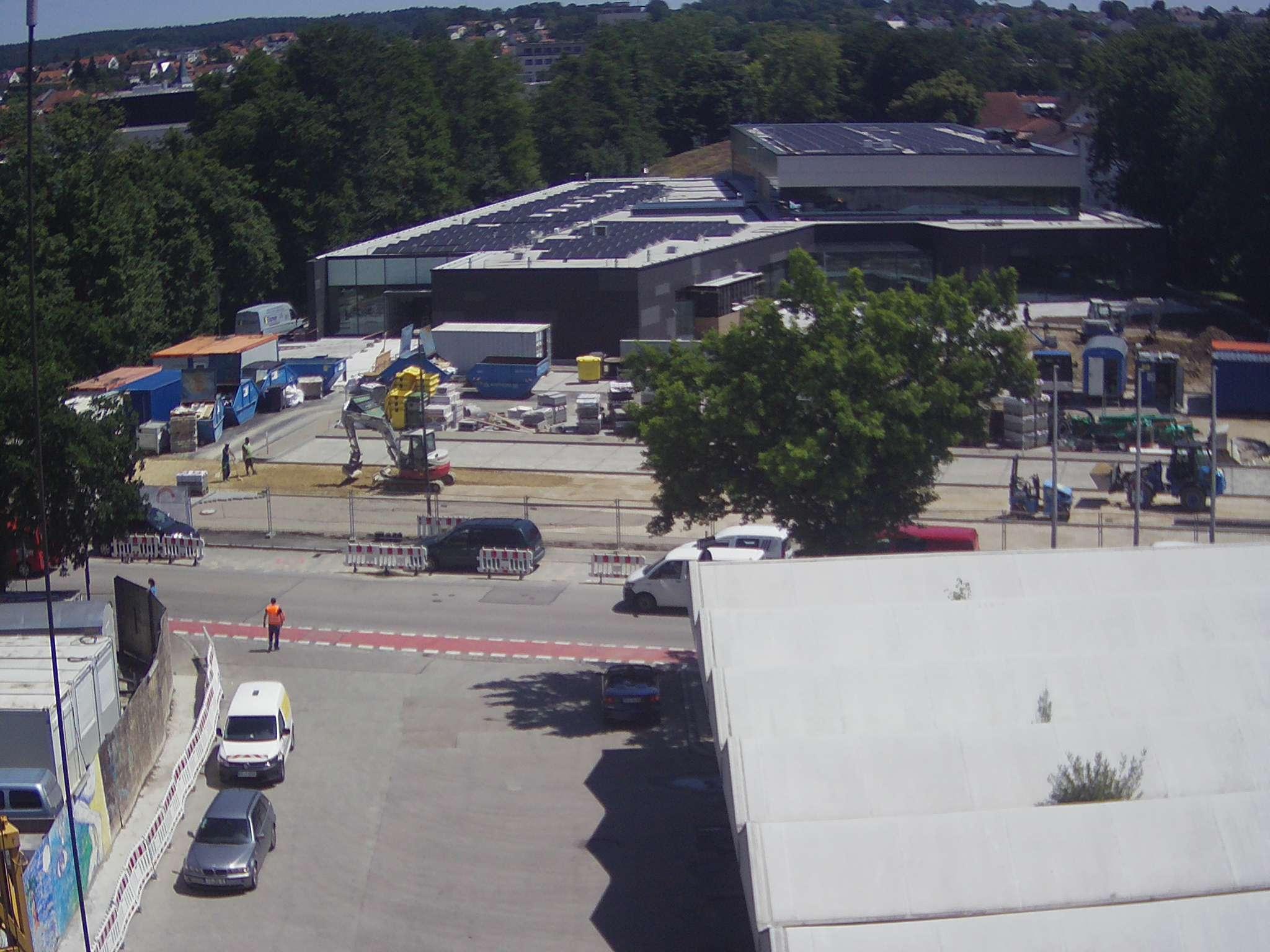 Webcambild vom Hallenbadbau